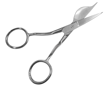 "Picture of LEFT-HANDED 6"" DOUBLE-POINTED DUCKBILL APPLIQUE SCISSORS"