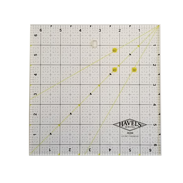 Picture of 6.5 x 6.5 INCH SQUARE FABRIC RULER